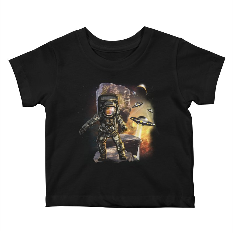 A tight spot in space Kids Baby T-Shirt by JP$ Artist Shop