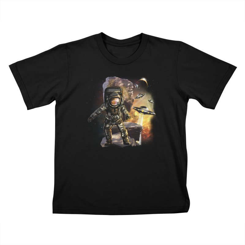 A tight spot in space Kids T-shirt by JP$ Artist Shop