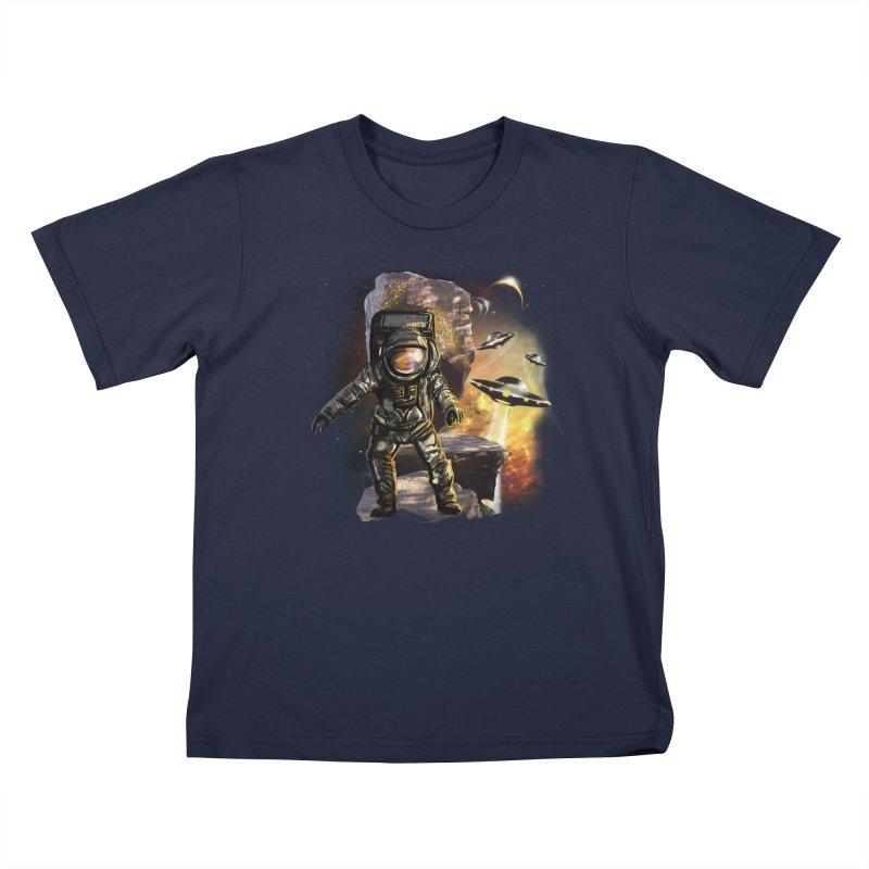 A tight spot in space Kids T-Shirt by JP$ Artist Shop