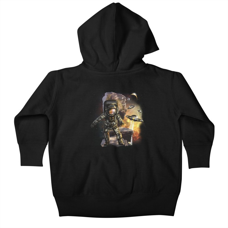 A tight spot in space Kids Baby Zip-Up Hoody by JP$ Artist Shop