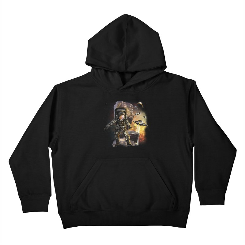 A tight spot in space Kids Pullover Hoody by JP$ Artist Shop