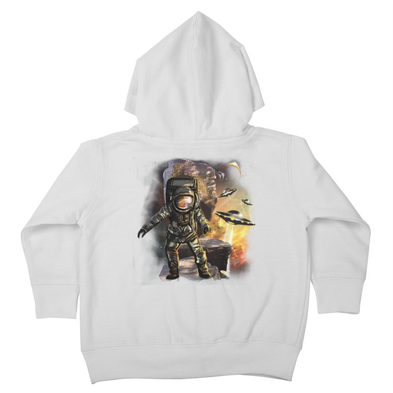 A tight spot in space Kids Toddler Zip-Up Hoody by JP$ Artist Shop