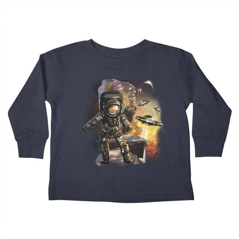 A tight spot in space Kids Toddler Longsleeve T-Shirt by JP$ Artist Shop
