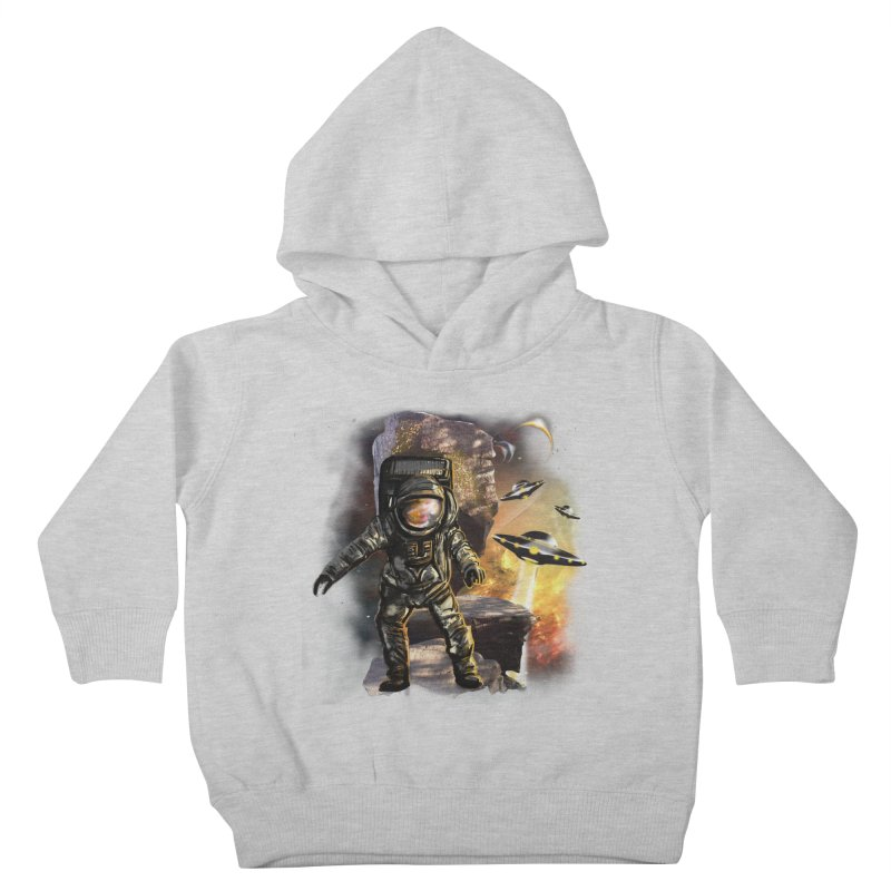 A tight spot in space Kids Toddler Pullover Hoody by JP$ Artist Shop