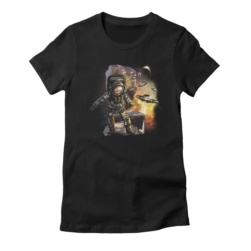 A tight spot in space Women's Fitted T-Shirt by JP$ Artist Shop