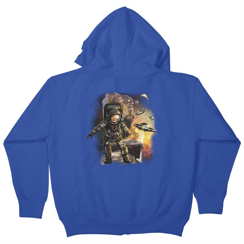 A tight spot in space Kids Zip-Up Hoody by JP$ Artist Shop