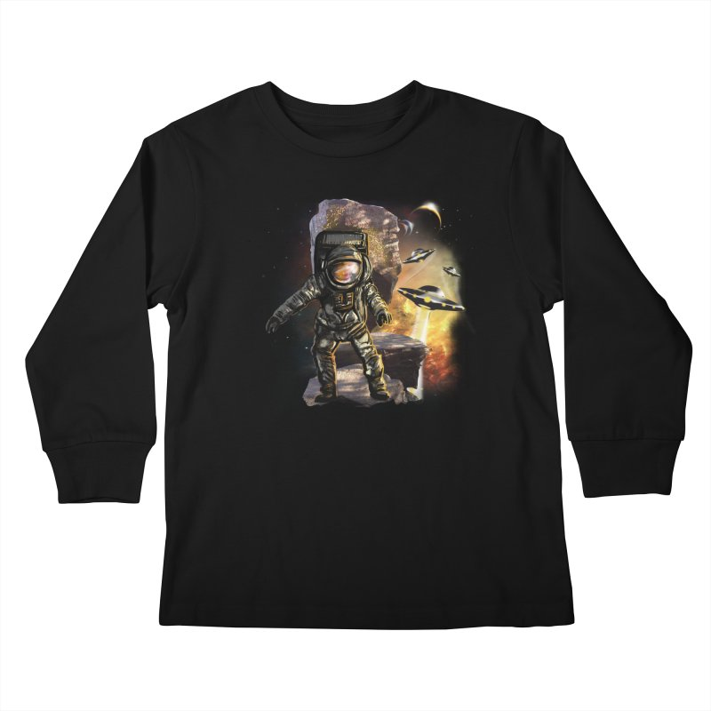 A tight spot in space Kids Longsleeve T-Shirt by JP$ Artist Shop