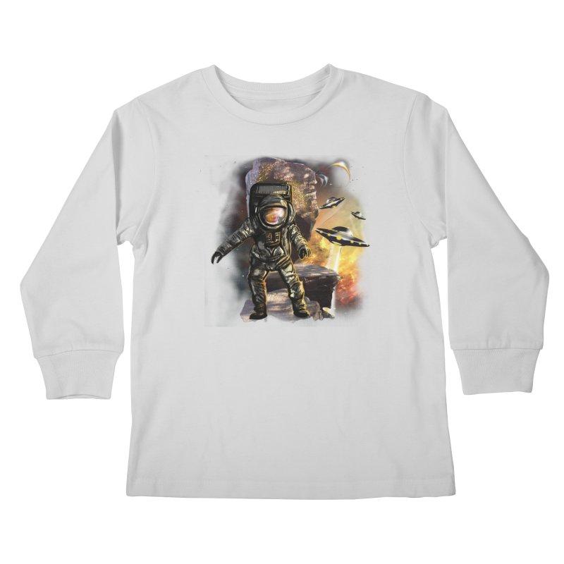A tight spot in space Kids Longsleeve T-Shirt by JP$ Artist Shop