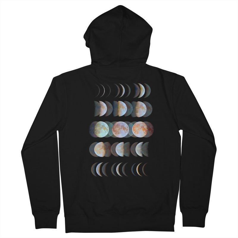 Moon phase Men's Zip-Up Hoody by JP$ Artist Shop