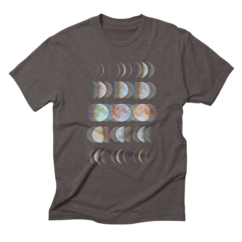 Moon phase Men's Triblend T-Shirt by JP$ Artist Shop