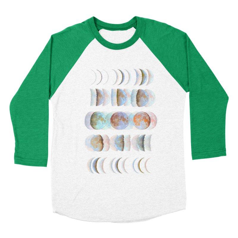 Moon phase Women's Baseball Triblend T-Shirt by JP$ Artist Shop