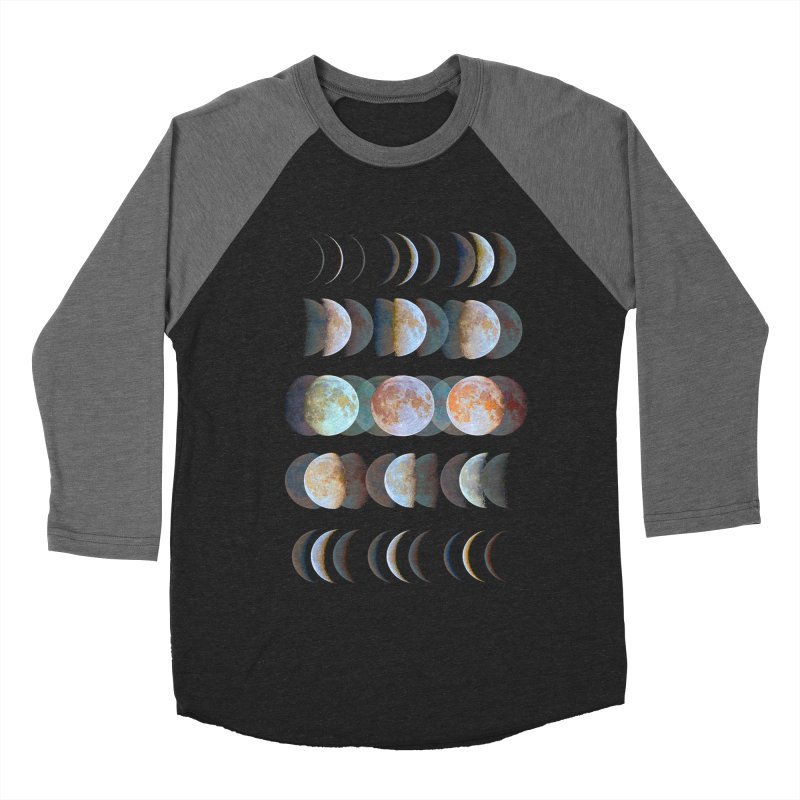 Moon phase Men's Baseball Triblend T-Shirt by JP$ Artist Shop