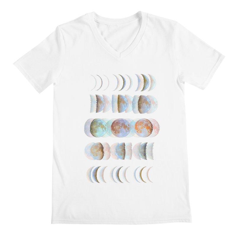 Moon phase Men's V-Neck by JP$ Artist Shop