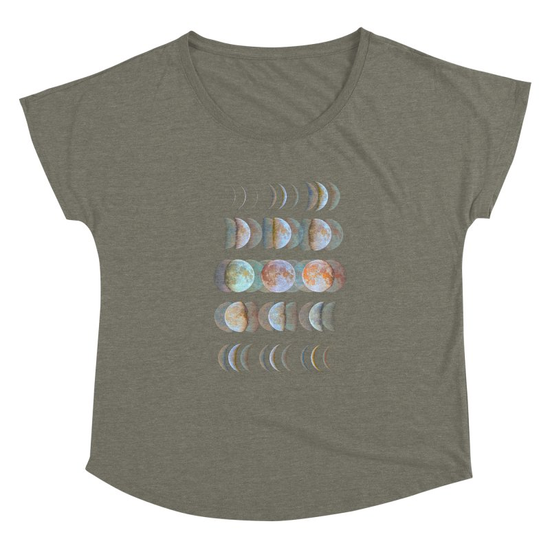 Moon phase Women's Dolman by JP$ Artist Shop
