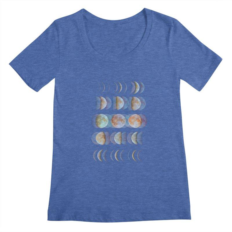 Moon phase Women's Scoopneck by JP$ Artist Shop