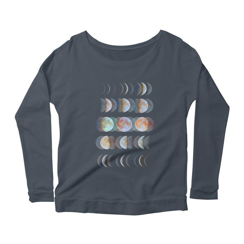 Moon phase Women's Longsleeve Scoopneck  by JP$ Artist Shop