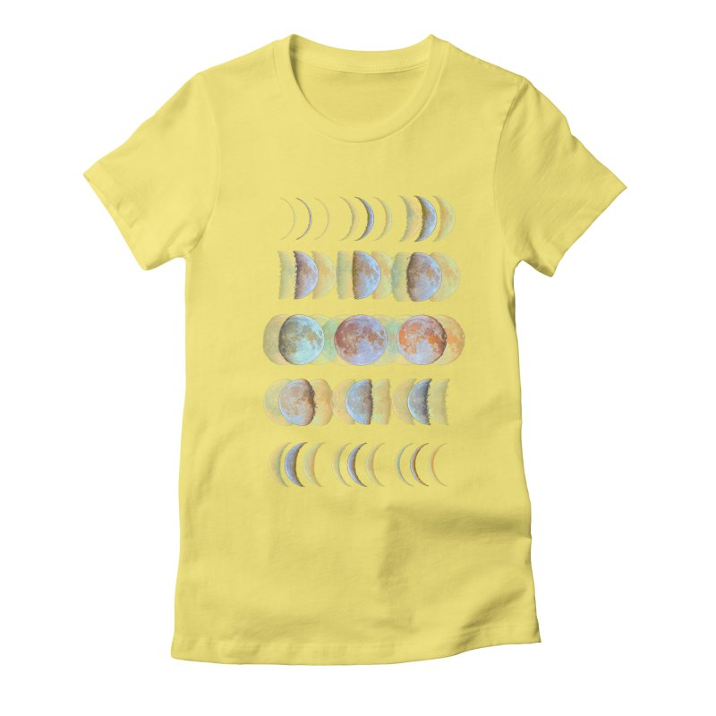 Moon phase Women's Fitted T-Shirt by JP$ Artist Shop