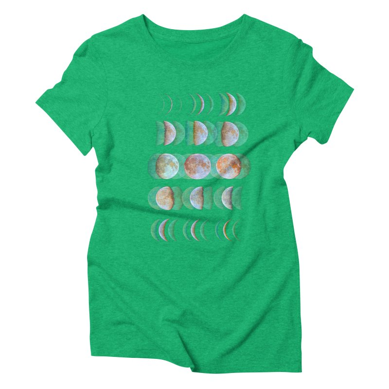 Moon phase Women's Triblend T-Shirt by JP$ Artist Shop