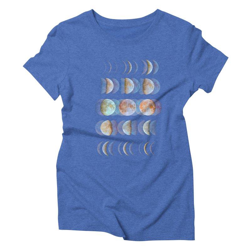 Moon phase Women's Triblend T-shirt by JP$ Artist Shop