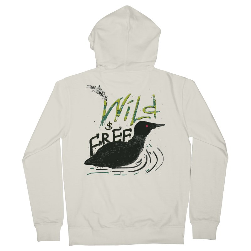 Wild $ Free Men's Zip-Up Hoody by JP$ Artist Shop