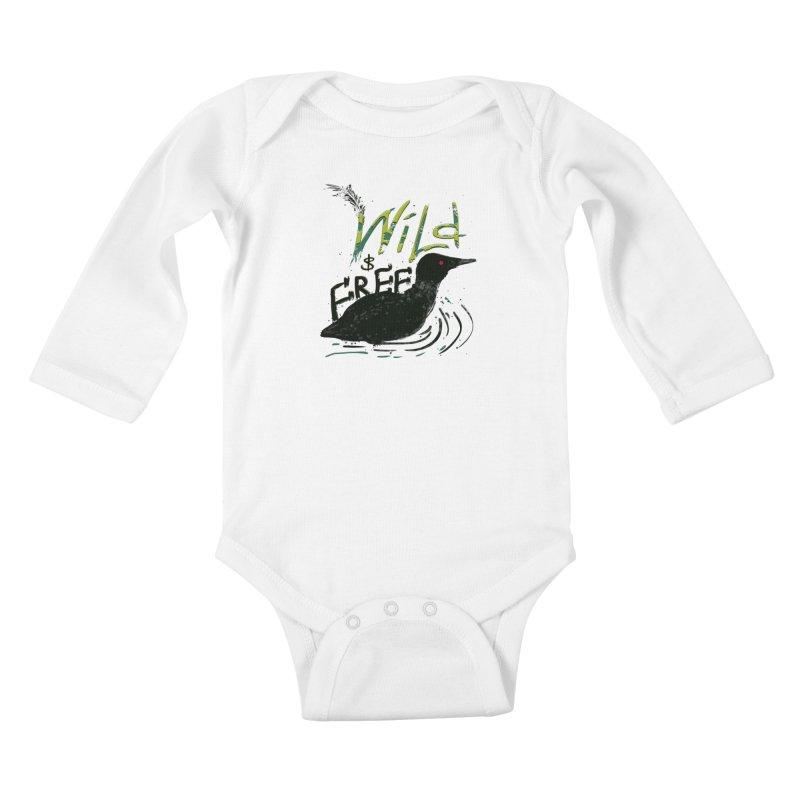 Wild $ Free Kids Baby Longsleeve Bodysuit by JP$ Artist Shop