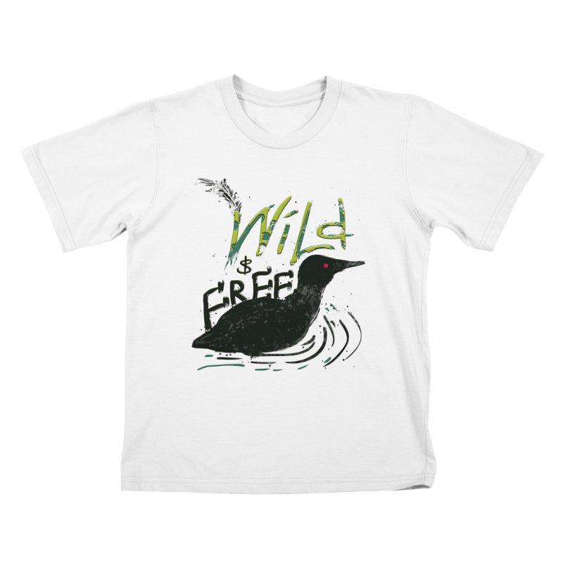 Wild $ Free Kids T-Shirt by JP$ Artist Shop