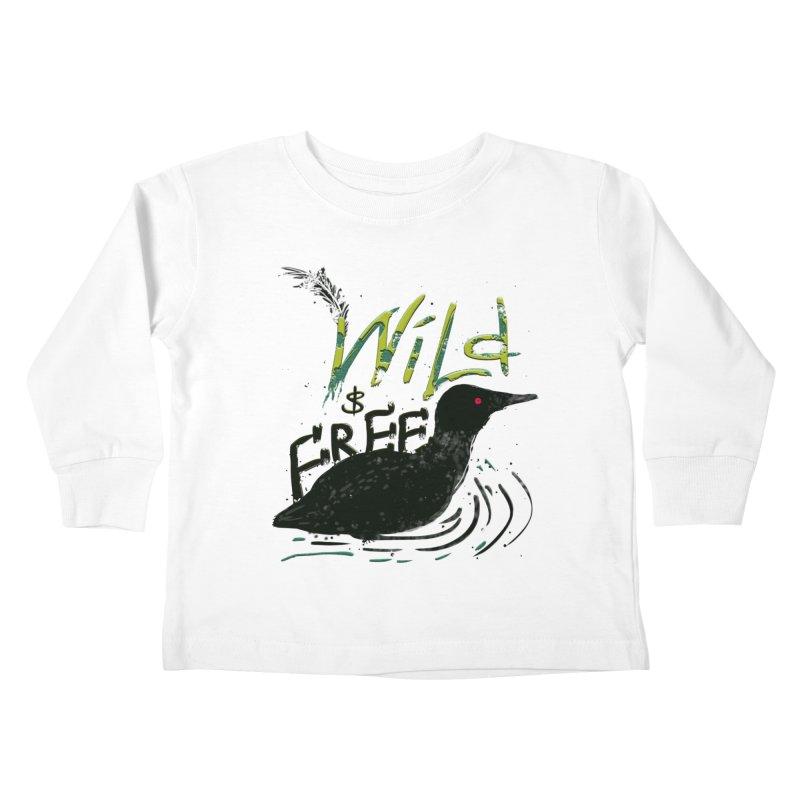 Wild $ Free Kids Toddler Longsleeve T-Shirt by JP$ Artist Shop