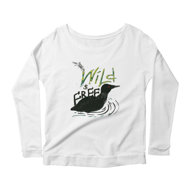 Wild $ Free Women's Longsleeve Scoopneck  by JP$ Artist Shop