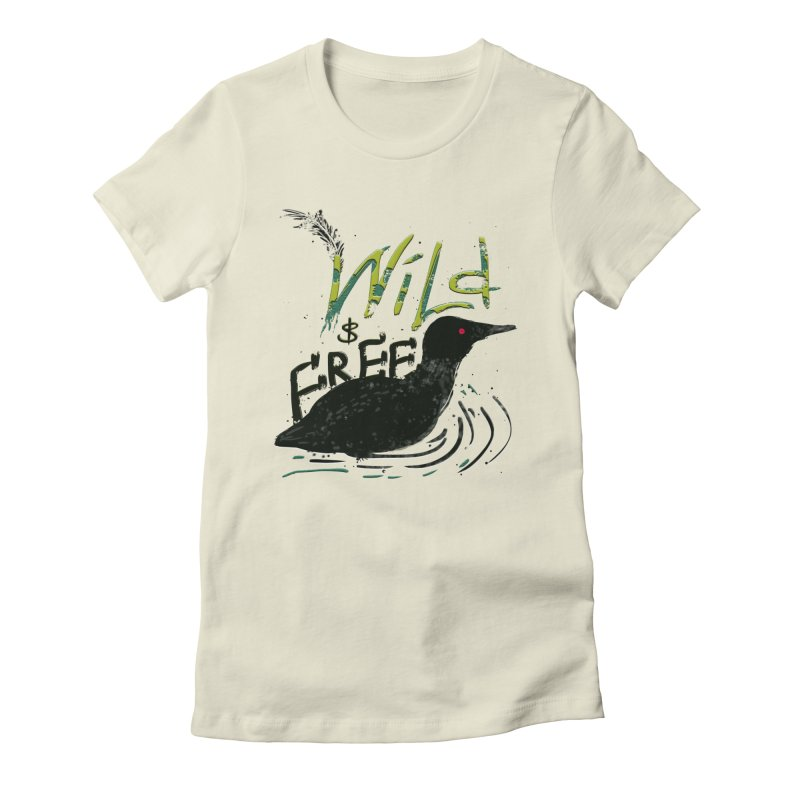 Wild $ Free Women's Fitted T-Shirt by JP$ Artist Shop