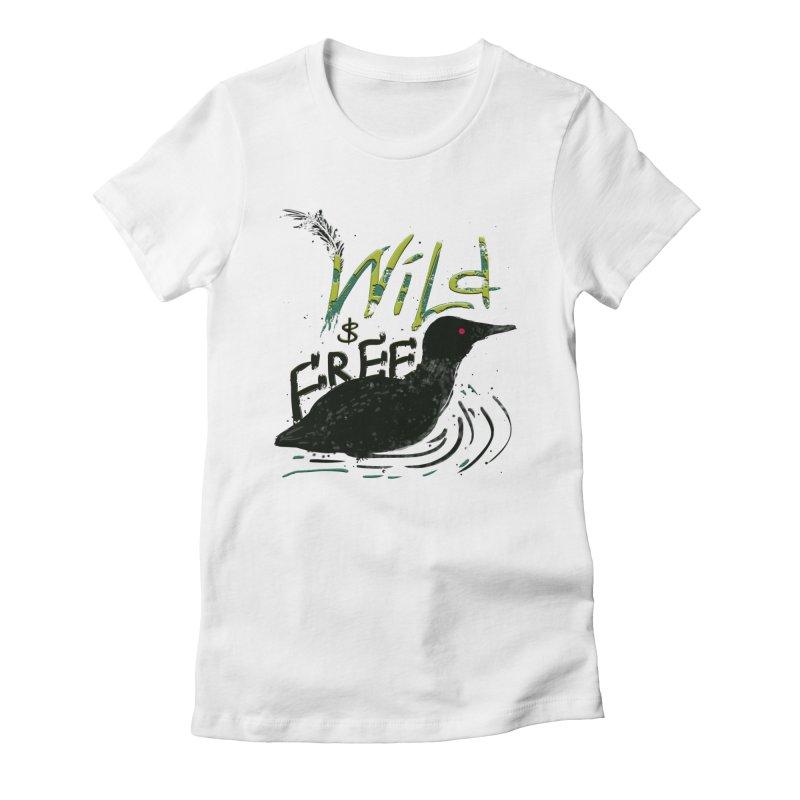 Wild $ Free Women's Fitted T-Shirt by JP$ Artist Shop