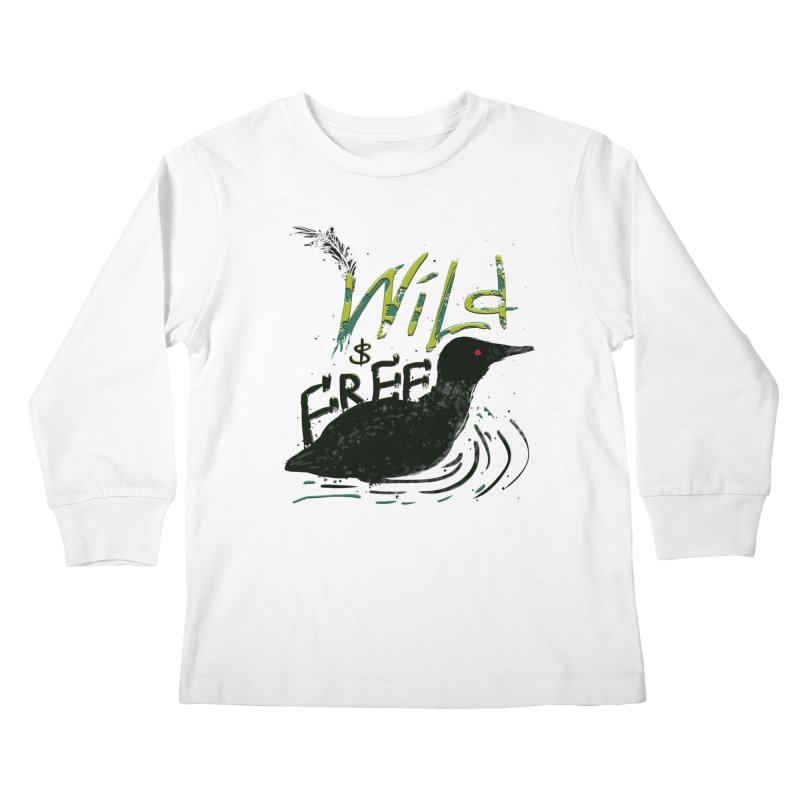 Wild $ Free Kids Longsleeve T-Shirt by JP$ Artist Shop