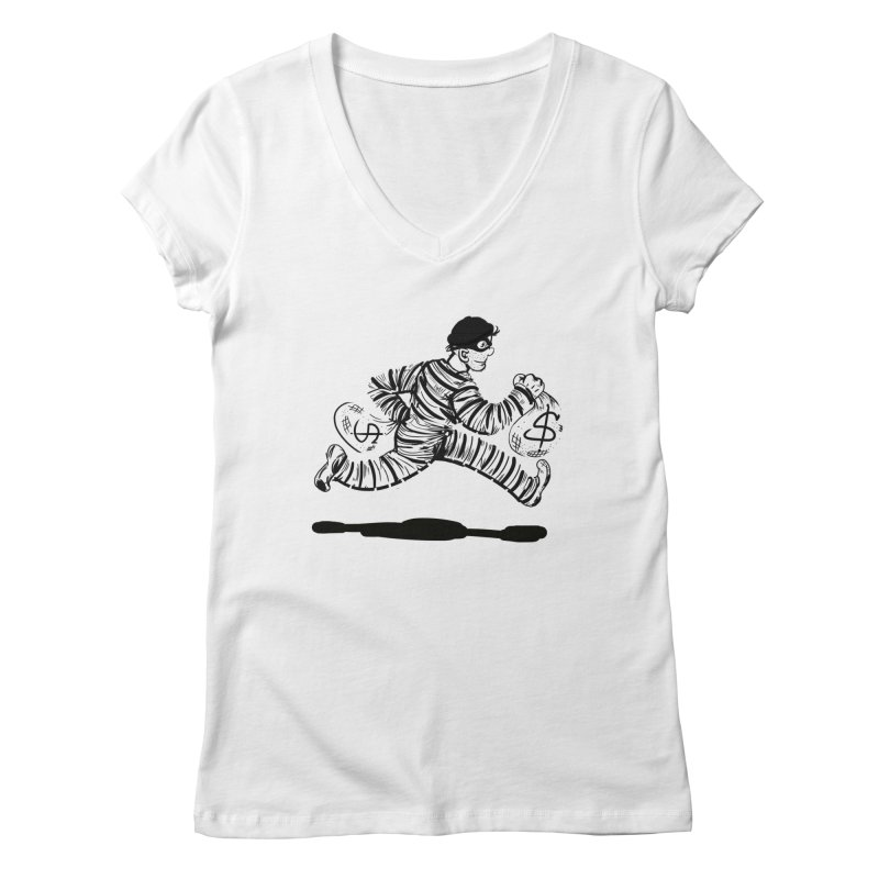 Take the $$$$$$$$$$$$$$ and run Women's V-Neck by JP$ Artist Shop