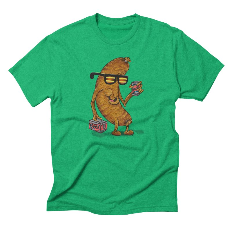 Beer Brat Men's Triblend T-Shirt by JP$ Artist Shop