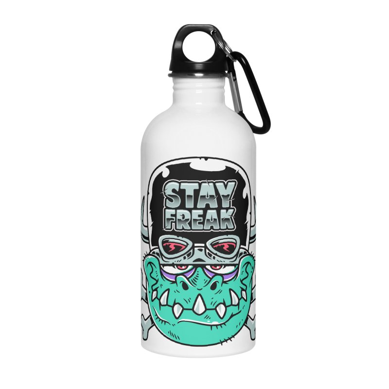 Stay Freak! Accessories Water Bottle by Johnny Terror's Art Shop