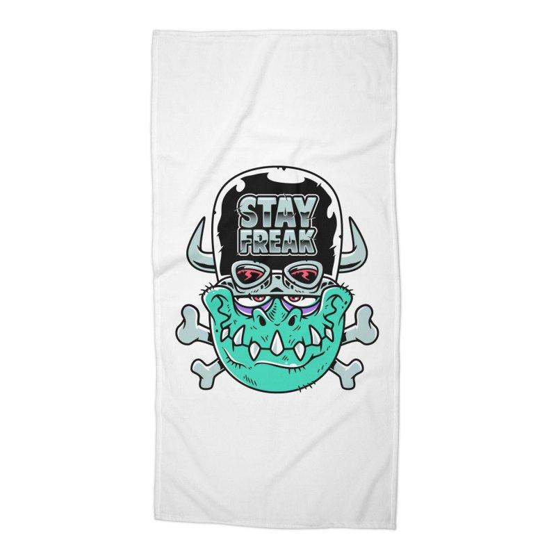 Stay Freak! Accessories Beach Towel by Johnny Terror's Art Shop
