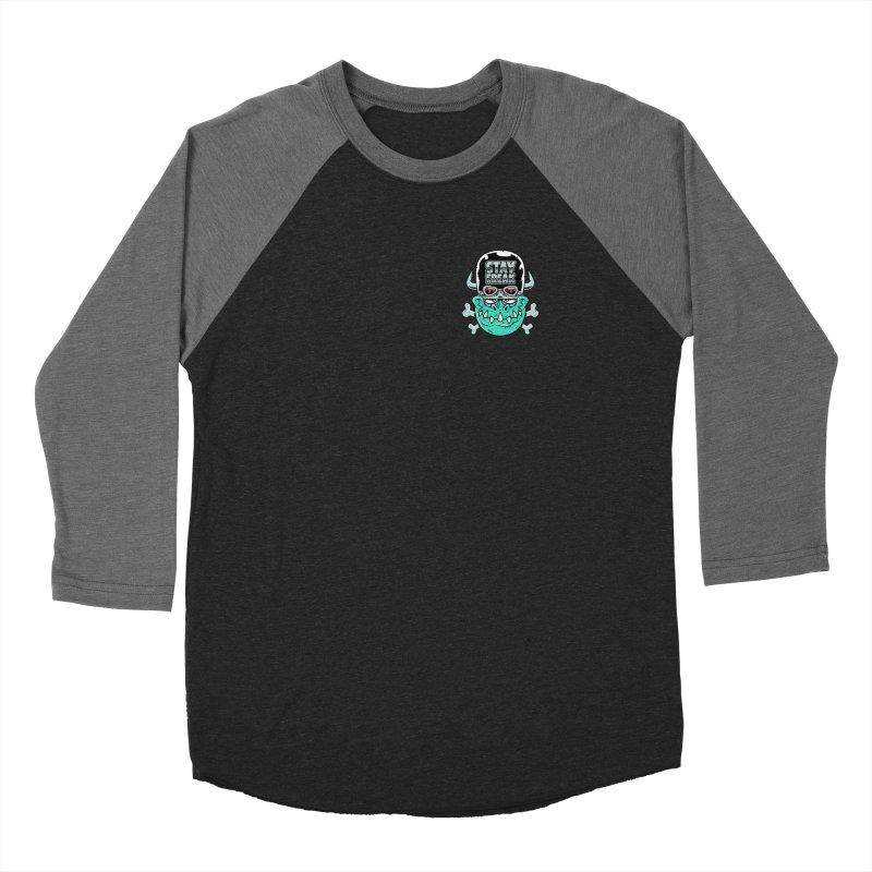 Stay Freak! Men's Baseball Triblend Longsleeve T-Shirt by Johnny Terror's Art Shop