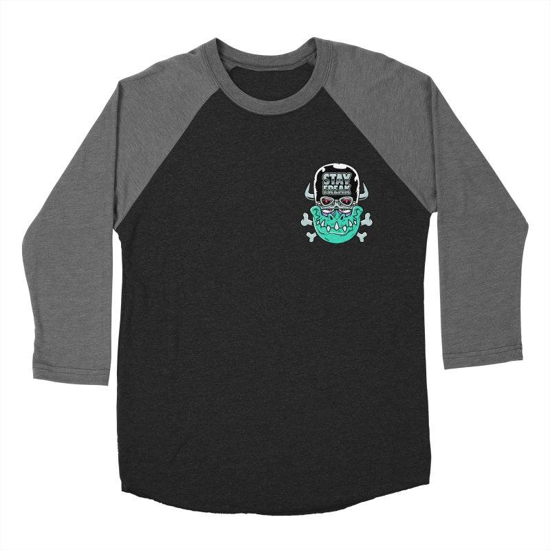 Stay Freak! Women's Baseball Triblend Longsleeve T-Shirt by Johnny Terror's Art Shop