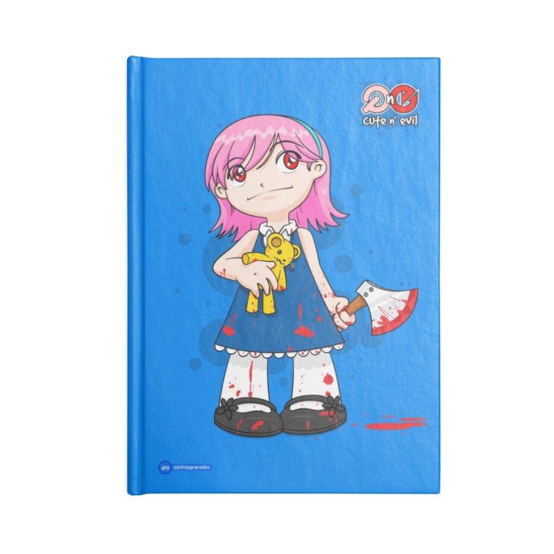 ax - cute n' evil Accessories Lined Journal Notebook by Juan Pablo Granados - .jpg