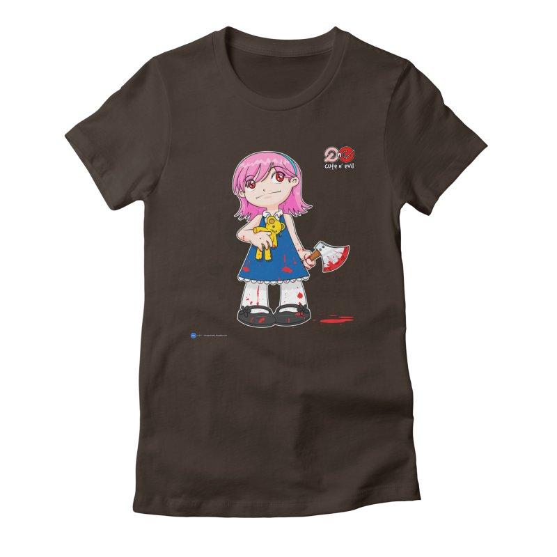 ax - cute n' evil Women's Fitted T-Shirt by Artist Shop.jpg