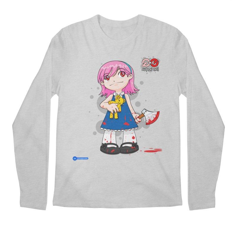 ax - cute n' evil Men's Regular Longsleeve T-Shirt by Juan Pablo Granados - .jpg