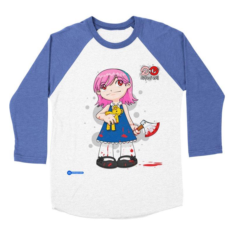 ax - cute n' evil Women's Baseball Triblend Longsleeve T-Shirt by Juan Pablo Granados - .jpg