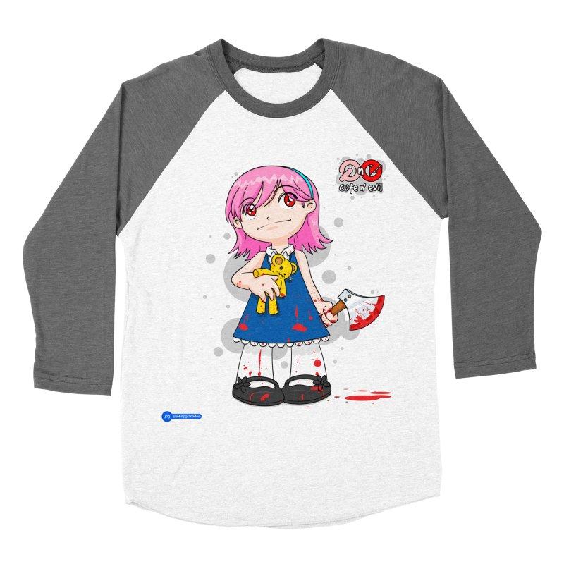 ax - cute n' evil Women's Baseball Triblend T-Shirt by Juan Pablo Granados - .jpg