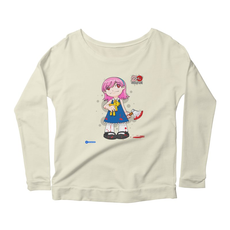 ax - cute n' evil Women's Scoop Neck Longsleeve T-Shirt by Juan Pablo Granados - .jpg