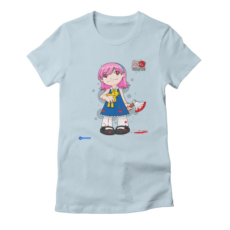 ax - cute n' evil Women's Fitted T-Shirt by Juan Pablo Granados - .jpg