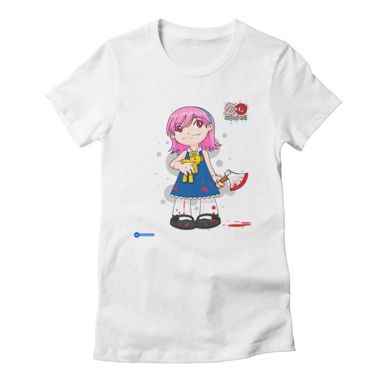 ax - cute n' evil Women's Fitted T-Shirt by Juan Pablo Granados - .jpg