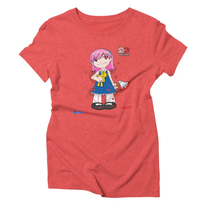 ax - cute n' evil Women's Triblend T-Shirt by Juan Pablo Granados - .jpg