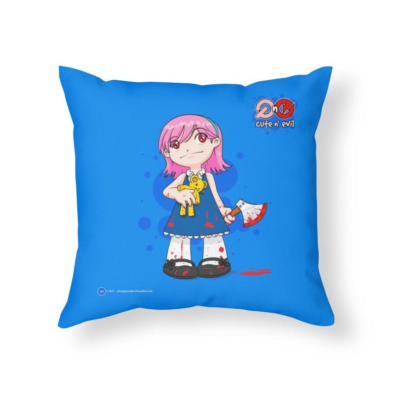 ax - cute n' evil Home Throw Pillow by Artist Shop.jpg