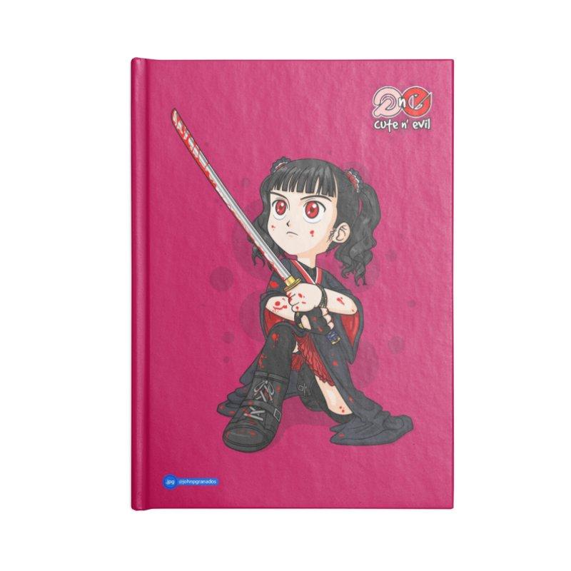 katana - cute n' evil Accessories Lined Journal Notebook by Juan Pablo Granados - .jpg
