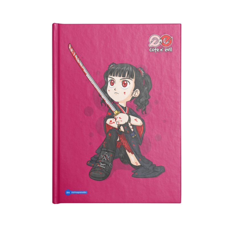 katana - cute n' evil Accessories Blank Journal Notebook by Juan Pablo Granados - .jpg