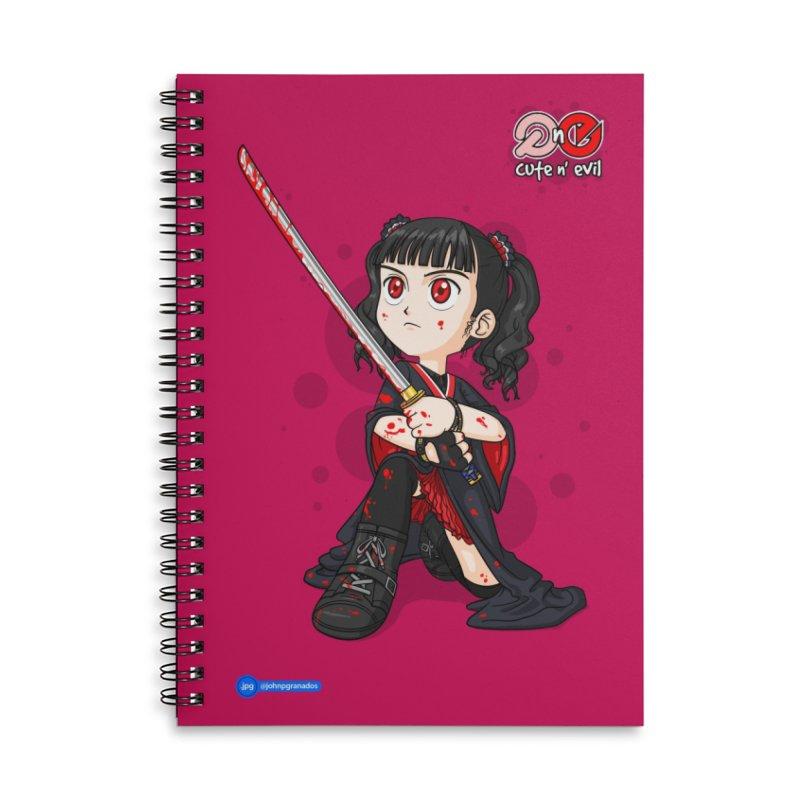 katana - cute n' evil Accessories Lined Spiral Notebook by Juan Pablo Granados - .jpg